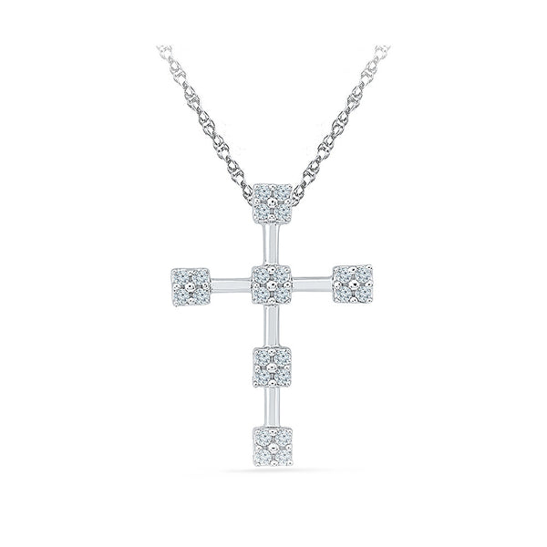Thy Belief Cross Pendant in 14k and 18k Gold online for women