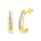 Designer Diamond Huggie Earrings