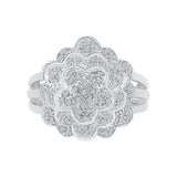 The Mega Flower Diamond Cocktail Ring