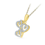 Dazzling Diamonds Heart Pendant