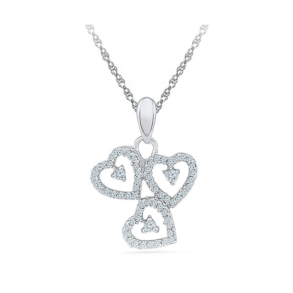 Love Motif Diamond Pendant in 14k and 18k Gold online for women