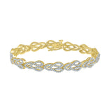 Halo Interlinked Diamond Bracelet