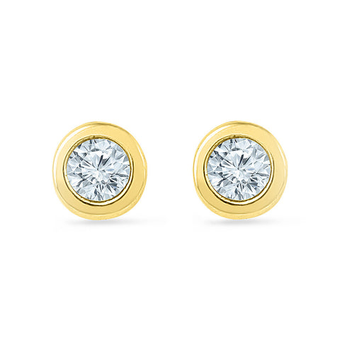 Daddy's Princess Diamond Stud Earrings