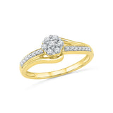14k, 18k white and yellow gold Glitz Everyday Diamond Ring in PRONG setting for women online