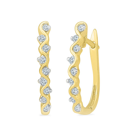 Dancing Diamond Huggies in 14k and 18k gold for women online
