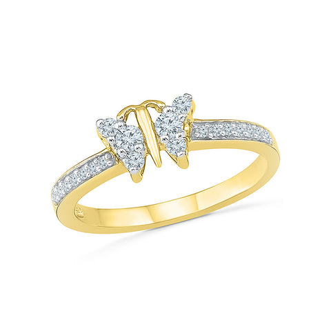 Butterfly Flutter Everyday Diamond Ring - Radiant Bay