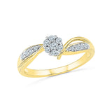 14k, 18k white and yellow gold Charming Commitment Diamond Engagement Ring in PRONG setting for women online