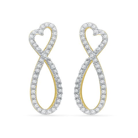 Forevermore Infinity Ladies' Earrings in 14k and 18k gold for women online