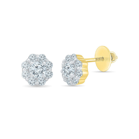 Diamond Sprinkle Stud Earrings