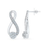 Gliterring Infinity Diamond Drop Earrings