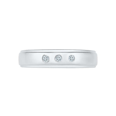 Three Diamond Accent Engagement Band for Men
