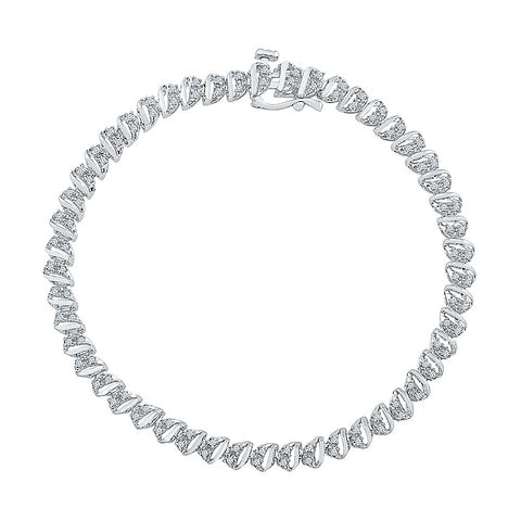 womens diamond bracelet  in white and yellow gold