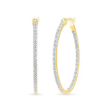 Vertical Elegance Diamond Hoops