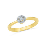 14kt / 18kt white and yellow gold Resplendent Everyday Diamond Ring in Prong and Miracle setting online for women