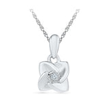 Solitary Bloom Diamond Pendant