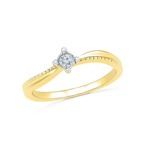 14kt / 18kt white and yellow gold Deluxe Solitaire Diamond Engagemet Ring in Channel setting online for women
