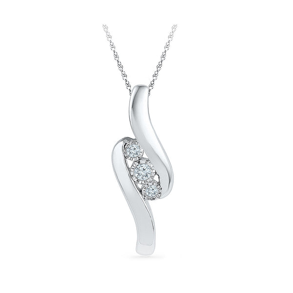 low cost diamond pendant in 14k and 18k Gold online for women