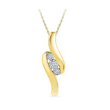 Curvaceously Classic Diamond Pendant