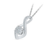 Luxurious Floral Diamond Pendant
