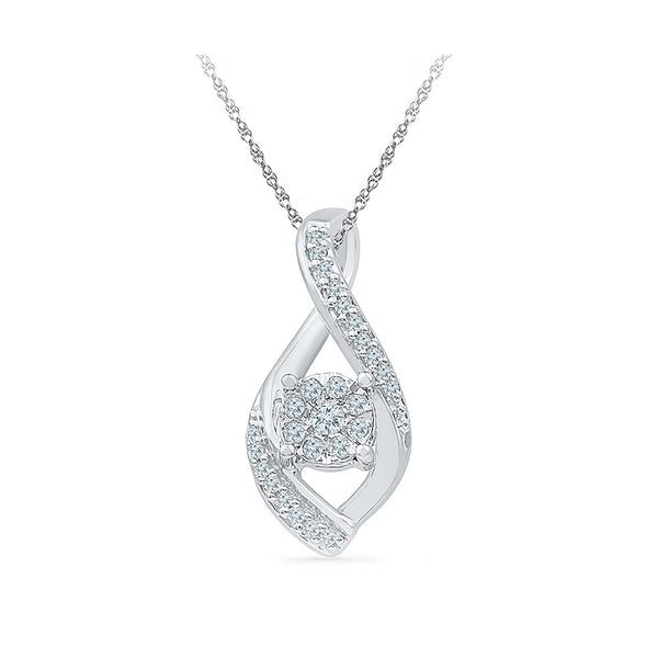 Luxurious Floral Diamond Pendant in 14k and 18k Gold online for women