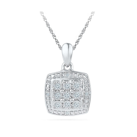 Beautiful Miracle Set Square Pendant - Radiant Bay
