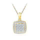 Beautiful Miracle Set Square Pendant