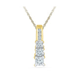The Royal Diamond Pendant in 14k and 18k Gold online for women