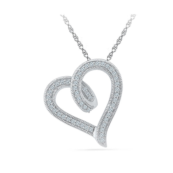 Shinning Love Heart Pendant