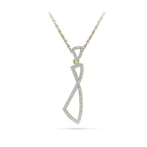 Art Nouveau Diamond Pendant in 14k and 18k Gold online for women
