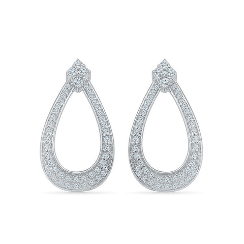 Teardrop Twinkle Diamond Huggies in 14k and 18k gold for women online