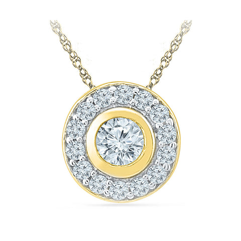 Blink Wink Circle Pendant in 14k and 18k Gold online for women
