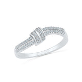 14kt / 18kt white and yellow gold Knot of Life Diamond Ring in PRONG and PAVE for women online