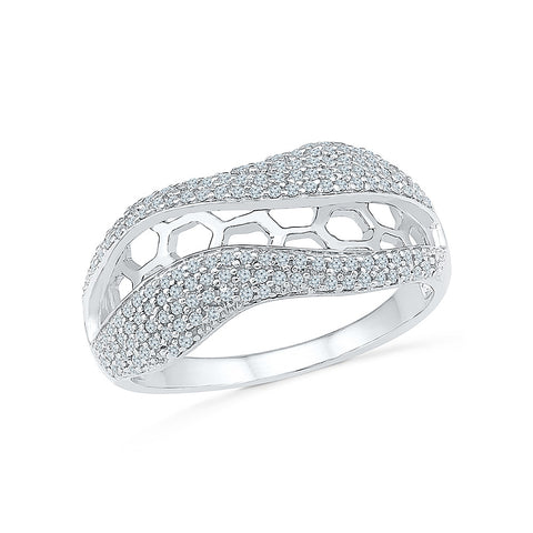 14kt / 18kt white and yellow gold Best of Halo Diamond Cocktail Ring in PAVE for women online