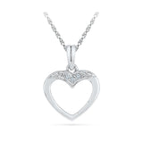 inexpensive diamond pendant in 14k and 18k Gold online for women