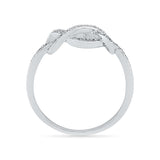 Infinity Knot Diamond Cocktail Ring