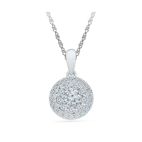 Impressive Intercircle Diamond Pendant  in 14k and 18k Gold online for women