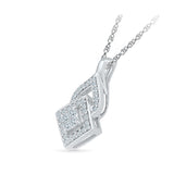 Quadrangle Diamond Pendant