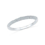 14kt / 18kt white and yellow gold Elementary Everyday Diamond Band Ring in PRONG for women online