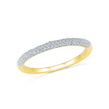 Elementary Diamond Band Ring