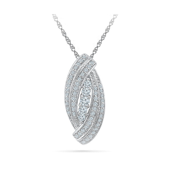 The Diamond Bouquet Pendant in 14k and 18k Gold online for women