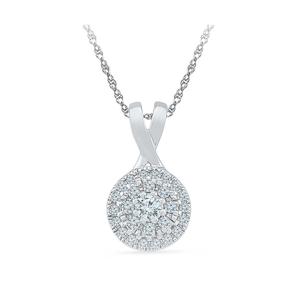 Gleeful Diamond Accent Circle Pendant  in 14k and 18k Gold online for women