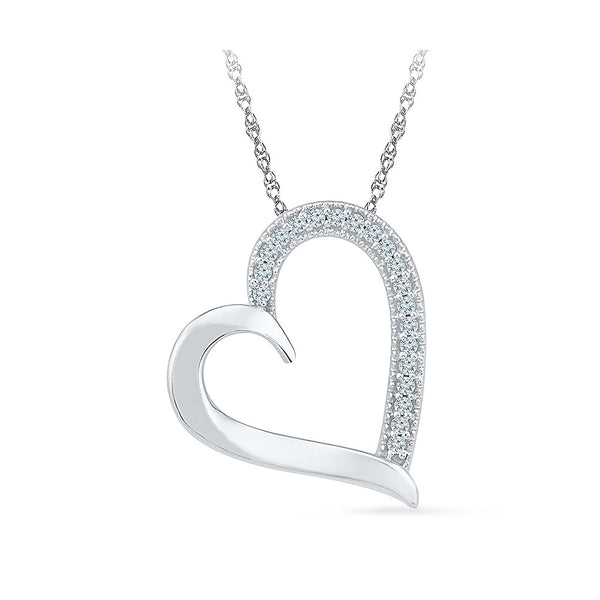 Wishful Heart Diamond Pendant