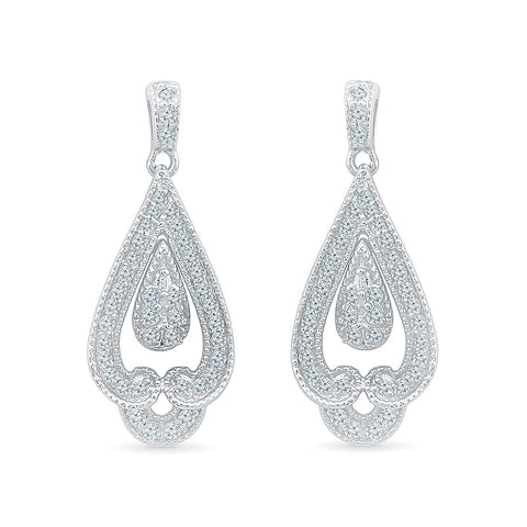 Ethnic Treasure Diamond Danglers in 14k and 18k gold