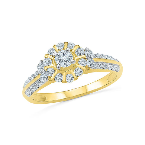 Fine Flower Engagement Ring
