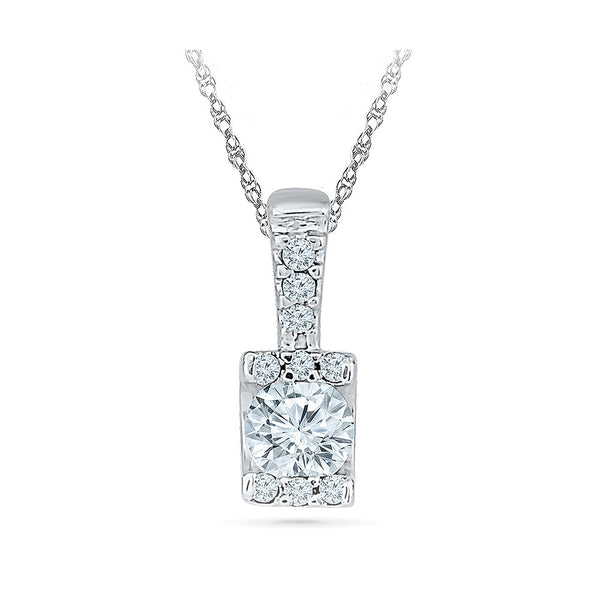The Gleam Diamond Pendant in 14k and 18k Gold online for women