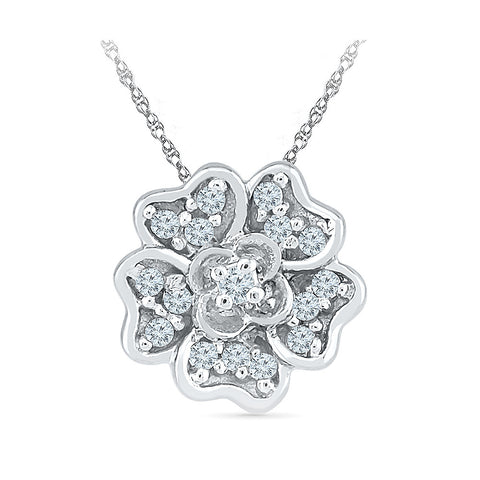 Baby Blossom Diamond Pendant - Radiant Bay