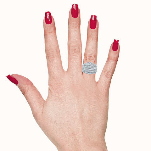 Luscious Layer Diamond Cocktail Ring