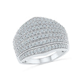 14kt / 18kt white and yellow gold Luscious Layer Diamond Cocktail Ring  in PRONG for women online