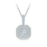 Square Shimmer Diamond Pendant