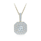 Square Shimmer Diamond Pendant in 14k and 18k Gold online for women